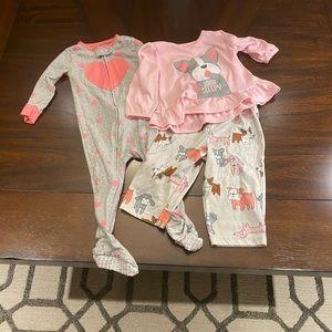 Lot of Infant Girl Pajamas